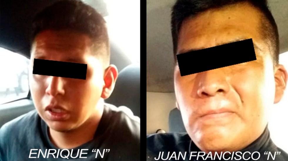 Detienen a dos policías que asaltaron negocio en el Estado de México - Foto de @SS_Edomex