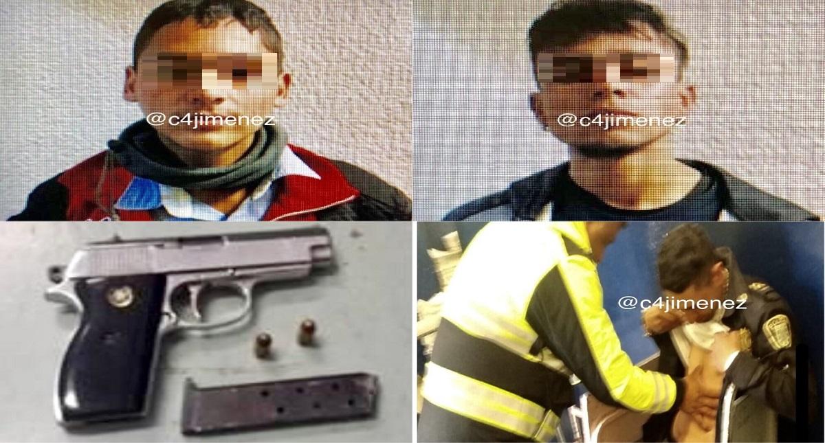 Hondureños detenidos por intento de homicidio contra un policía. Fotos de @c4jimenez