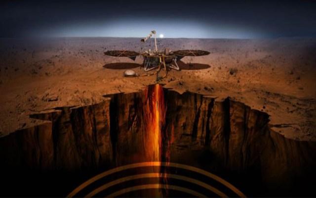 #Video Aterriza la misión InSight de la NASA en Marte - InSight estudiando el interior de Marte. Foto de JLP / NASA