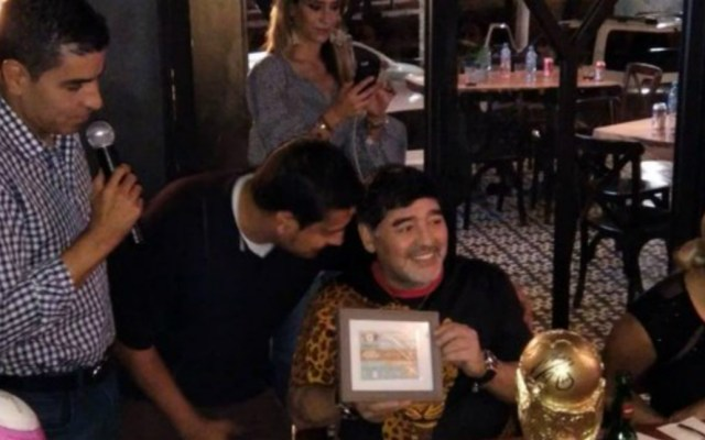 Maradona participa en subasta para damnificados en Sinaloa - subasta maradona a beneficio damnificados willa