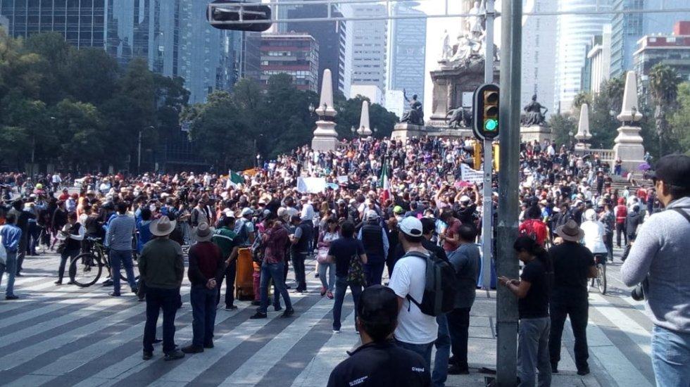 Resultado de imagen para Ciudadanos que marchan a favor de NAIM en Texcoco piden ser escuchados