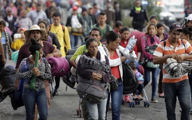 Gobernador de Jalisco recibe a primeros migrantes - Migrantes centroamericanos Foto de Twitter