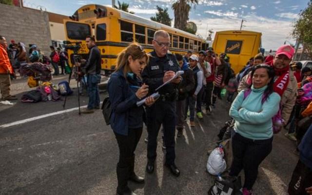 Más de mil 500 migrantes llegan a Tijuana para cruzar hacia EE.UU. - Foto de La Jornada