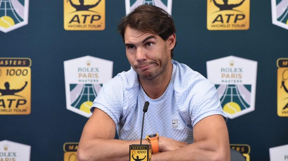 Nadal no jugará las finales de la ATP en Londres por malestar en tobillo - Foto de AFP