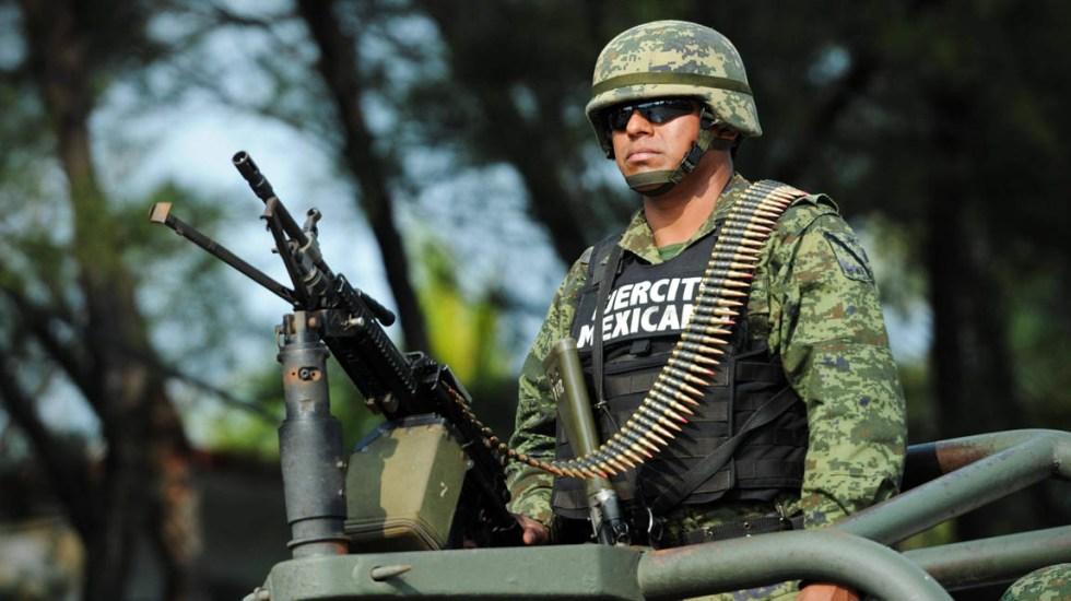 CNDH pide al gobierno consultar a la CIDH sobre Guardia Nacional - Elemento de la Sedena. Foto de Internet
