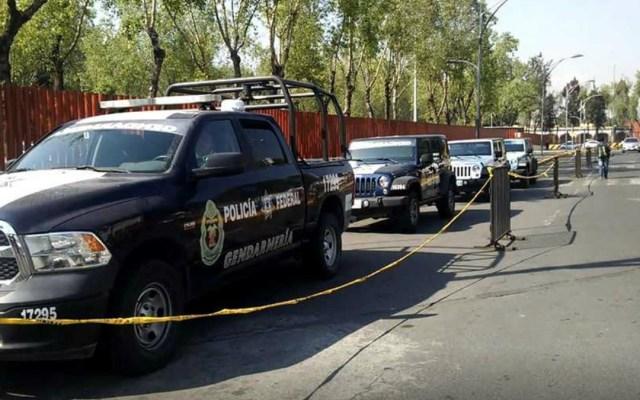 Gendarmería alista operativo de seguridad por toma de posesión - Gendarmes de la Policía Federal en las inmediaciones de San Lázaro