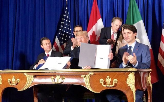 Firmé uno de los tratados más importantes del mundo: Trump - firma nuevo tratado comercial trump