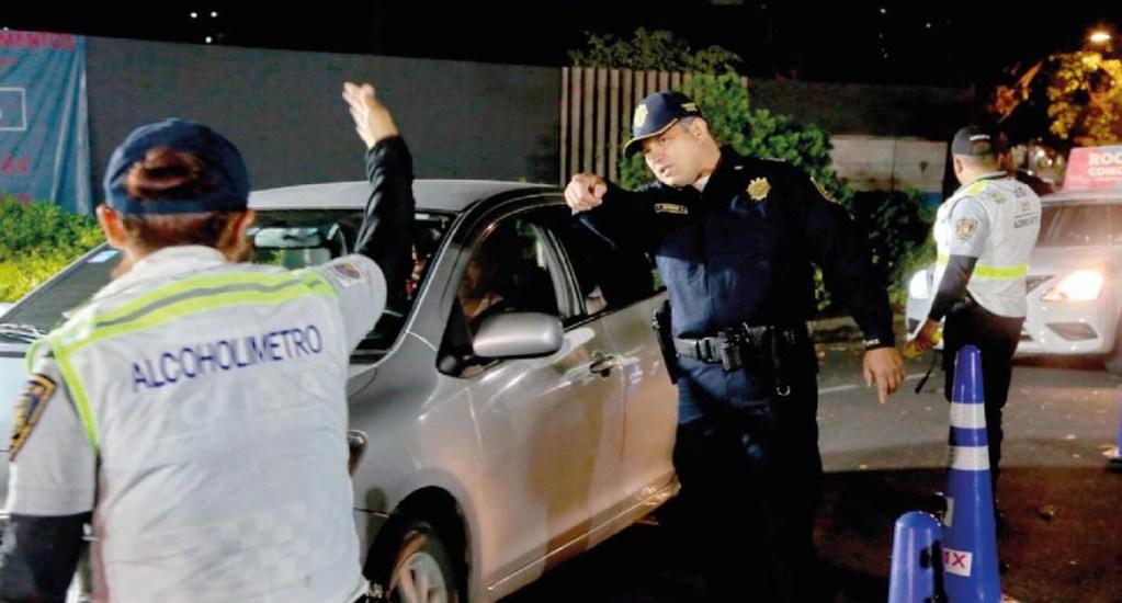 Atropella conductor a mujer policía en Alcoholímetro de CDMX - Alcoholímetro de la Ciudad de México. Foto de @SSP_CDMX