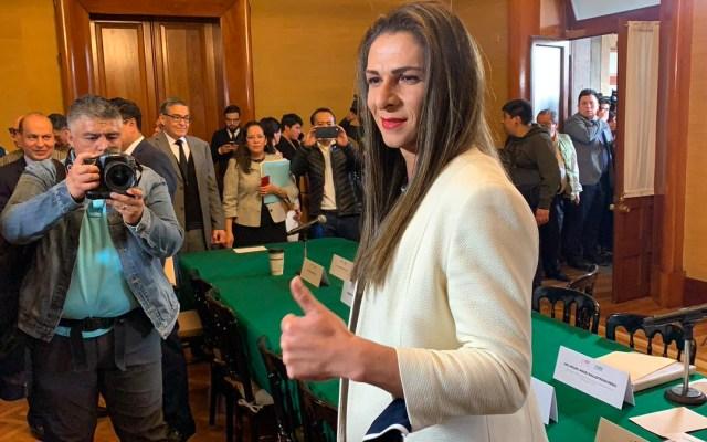 Ana Gabriela Guevara rinde protesta como titular de la Conade - Foto de Twitter