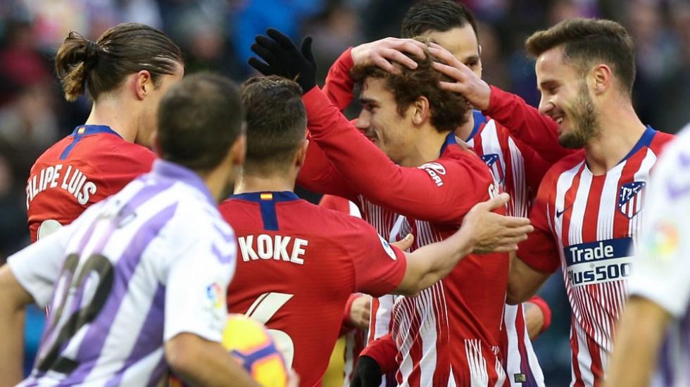 Griezmann rescata al Atlético de Madrid en Valladolid - Foto de AFP