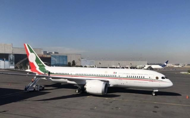 Jiménez Espriú contradice a AMLO; rifa del avión 'no es factible' - Despegue del avión presidencial rumbo a EE.UU. para su venta. Foto de Notimex