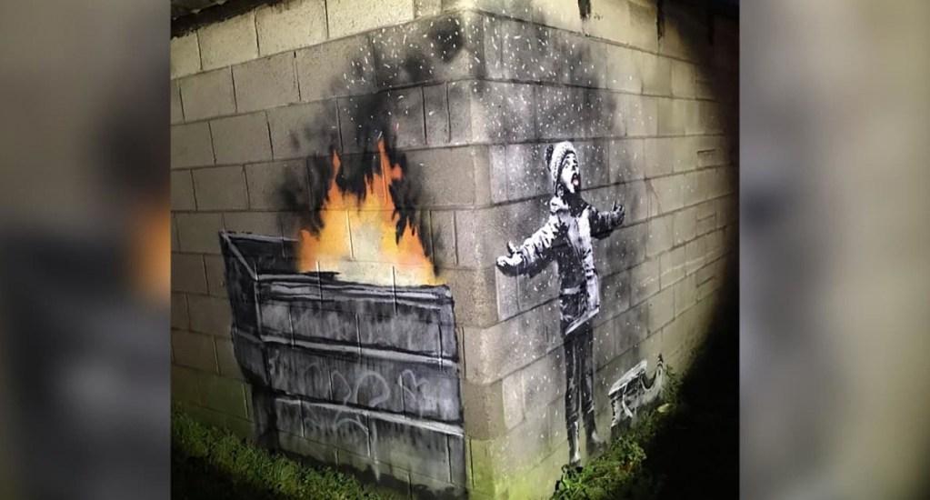La nueva obra de Banksy en Gales - Foto de CNN