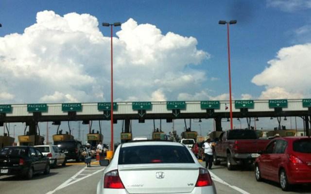 Autopista México-Pachuca registra mayor número de salidas vehiculares - Caseta de la autopista México-Pachuca. Foto de Internet