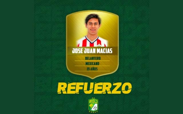 Chivas presta al León con opción de compra a José Juan Macías