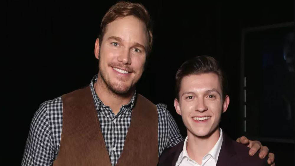 Chris Pratt y Tom Holland. Foto de Internet