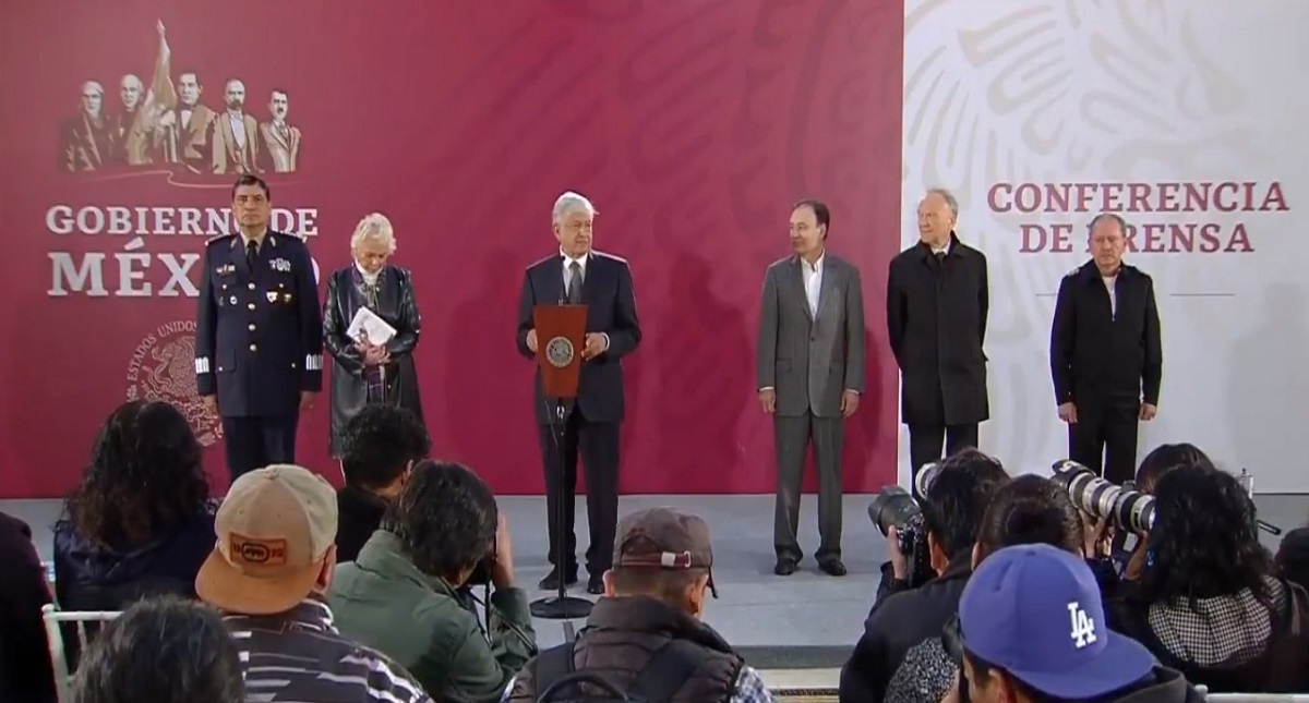 Conferencia de AMLO en Palacio Nacional. Captura de pantalla