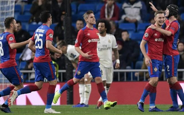 CSKA Moscú golea y humilla al Real Madrid en el Bernabéu - Foto de AFP