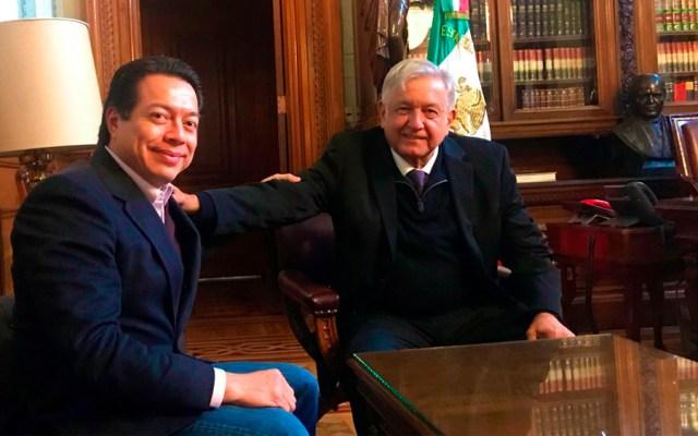 Delgado se reúne con López Obrador por paquete económico - Foto de @mario_delgado1