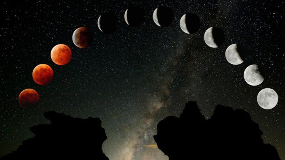 El año arranca con un eclipse total de 'superluna de sangre'