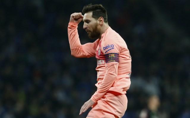 Messi destroza al Espanyol en el derbi y afianza al Barça como líder - Foto de AFP