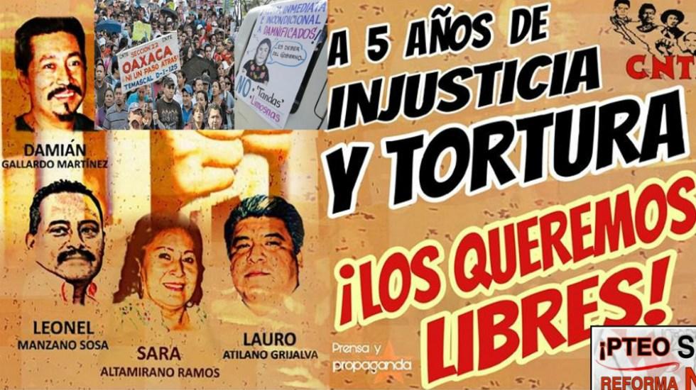 Son liberadas 12 personas ligadas a la CNTE - Foto de Sección 22 Oaxaca