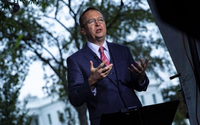 Anuncia Trump a Mick Mulvaney como jefe interino de Gabinete - Anuncia Trump a Mick Mulvaney como jefe interino de Gabinete