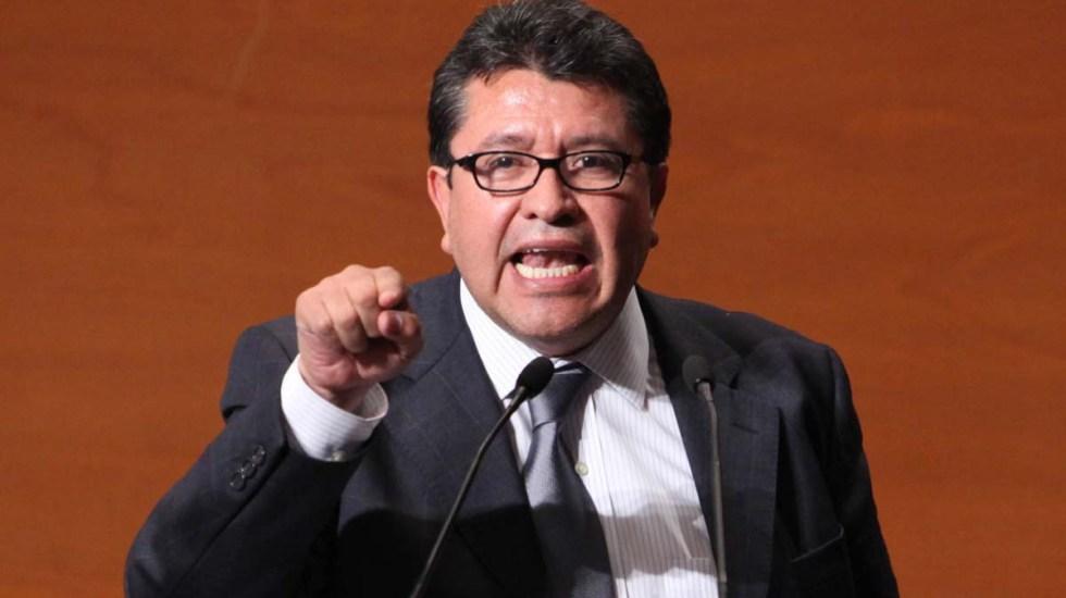 Monreal pide a la oposición cerrar filas para aprobar Guardia Nacional - Monreal presenta iniciativa de desafuero presidencial