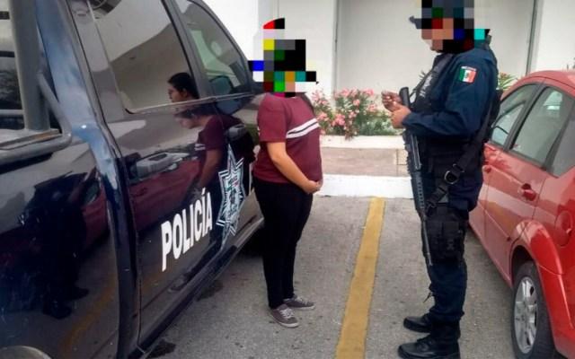 Detienen a mujer con un mdp en Playa del Carmen - Foto Especial