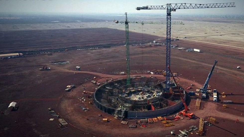 Reanudarán traslado de material para pistas del NAIM - Obras en el NAIM. Foto de Internet