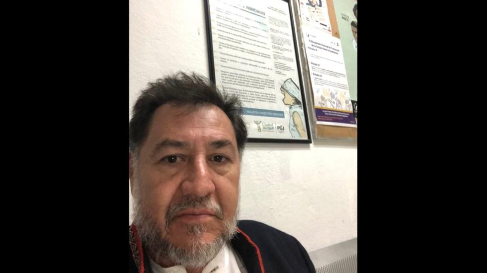 Fernández Noroña va al MP por robo de teléfono - Foto de Facebook