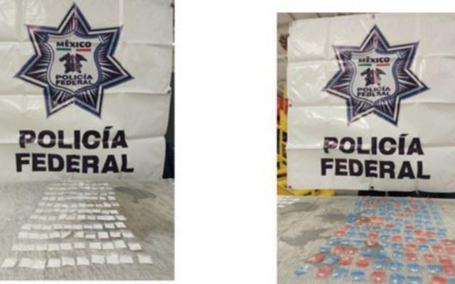 Interceptan cargamento de cocaína y crack en aeropuerto de Querétaro - Foto de @PoliciaFedMX