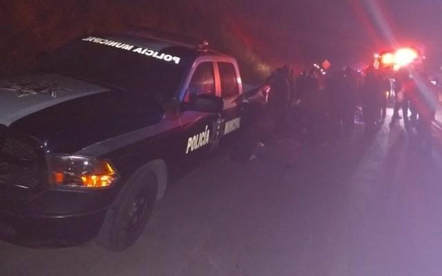 Tráiler embiste a patrulla y arrolla a 15 peregrinos en la México-Querétaro - México-Querétaro