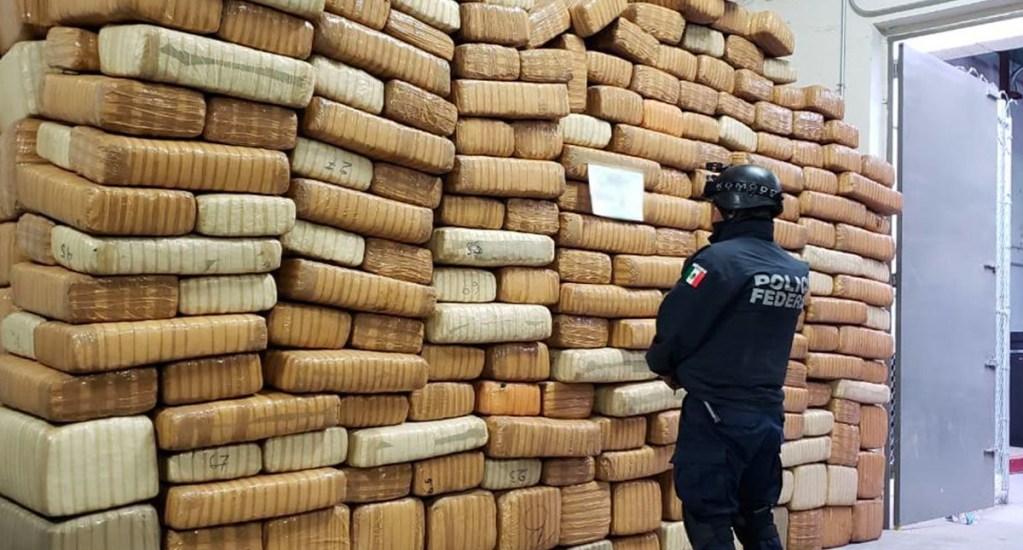 Hallan 3 toneladas de mariguana escondida entre matorrales en Sonora - Foto de SSP
