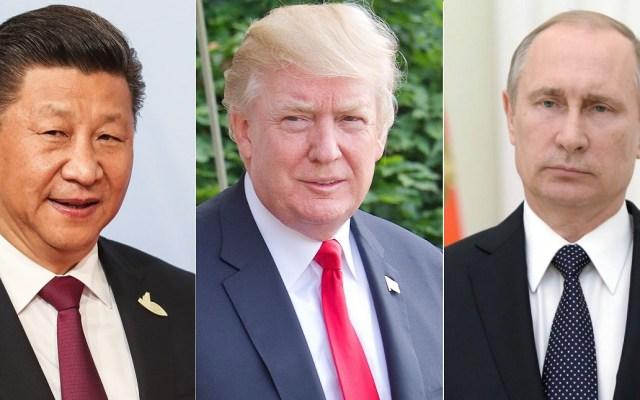 Trump espera reunirse con Putin y Xi para acabar con armamento - Presidentes Xi, Trump y Putin. Foto de Internet
