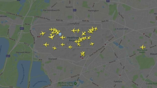 Paralizan aeropuerto Heathrow en Londres por drones