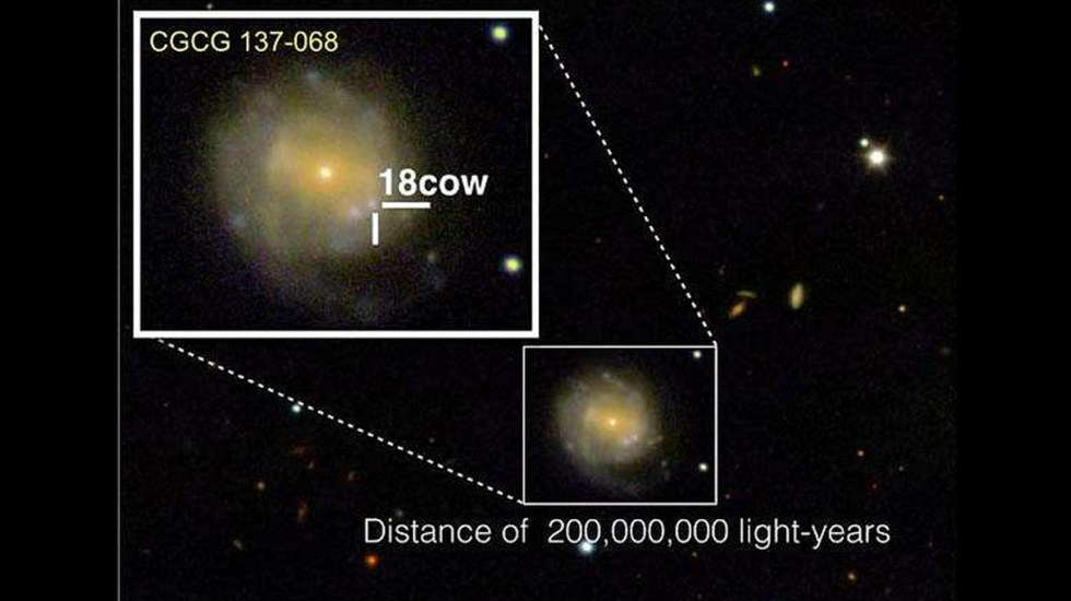 Científicos captan nacimiento de un agujero negro - Foto de DEIMOS