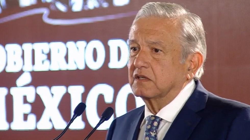 AMLO insiste en que bloqueo de la CNTE es responsabilidad de Aureoles - AMLO Conferencia 29 de enero. Captura de pantalla