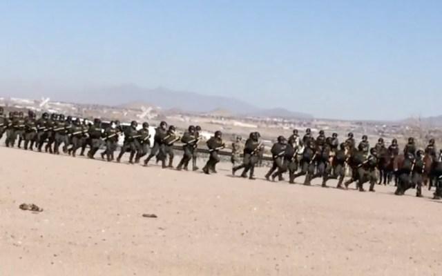 Despliegue de agentes fronterizos de EE.UU. sorprende a vecinos mexicanos - Foto de La Opción de Chihuahua
