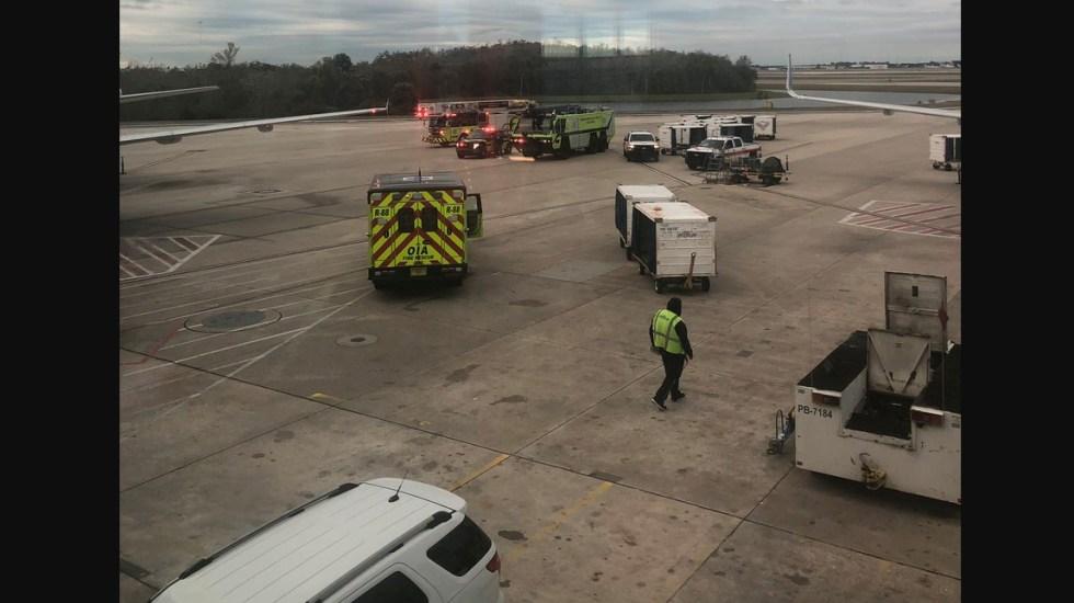 Avión aterriza de emergencia en EE.UU. por humo en la cabina - Foto de Twitter