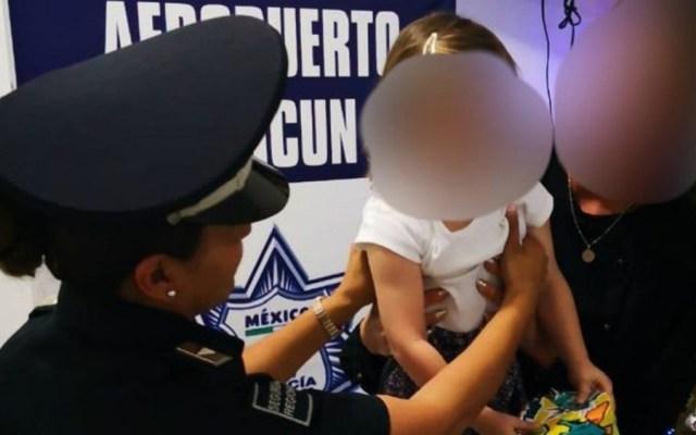 Rescatan a niña española secuestrada en Aeropuerto de Cancún - Foto de Policía Federal