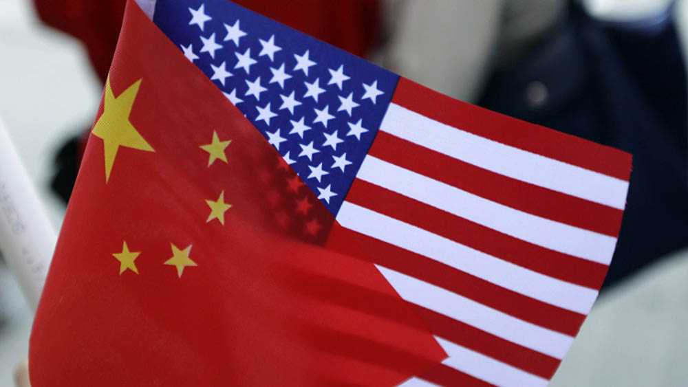 Banderas de China y EE.UU. Foto de Internet