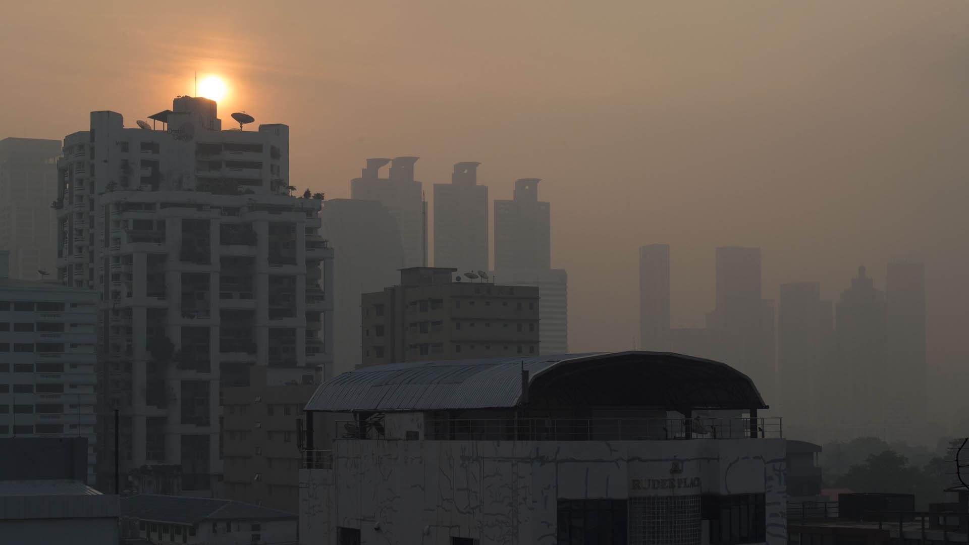 Contaminación en Bangkok. Foto de AFP / Romeo Gacad