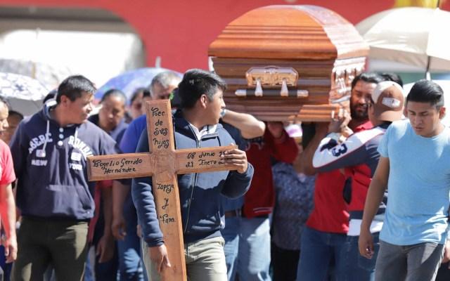Dan último adiós a otras dos víctimas de Tlahuelilpan - Cortejo fúnebre de víctima de explosión en Tlahuelilpan. Foto de Notimex