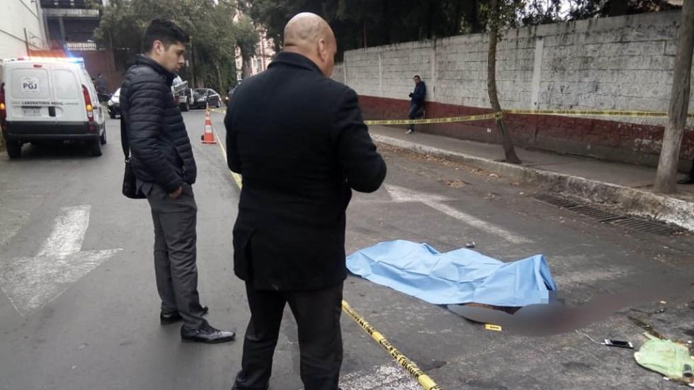 Muere ciclista atropellado por camión en Cuajimalpa - Foto de @Foro_TV/S. Servín