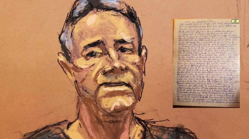 """Carta del Chapo a Dámaso López """"El Licenciado"""" - Foto de López-Dóriga Digital"""