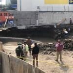 Derrumbe provoca la muerte de un trabajador en construcción de la GAM - Foto de @luismiguelbaraa