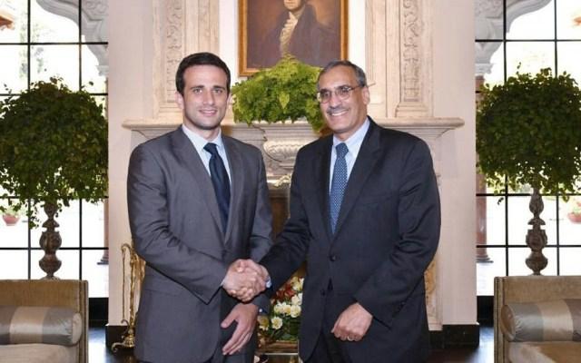 Diplomático de Guaidó se reúne con embajador de EE.UU. en Perú - Foto de @USEMBASSYPERU