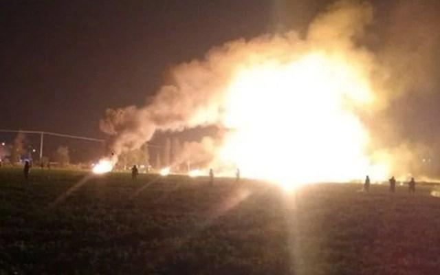 Pemex se moviliza por explosión de ducto en Hidalgo - Foto de Twitter Política y Estilo