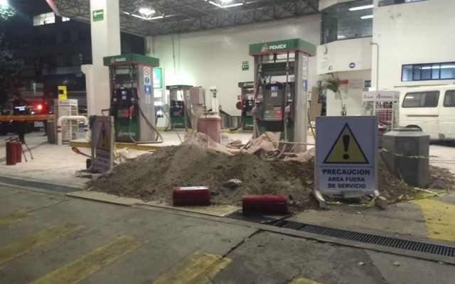 'Flamazo' en gasolinera de la capital deja dos heridos - Foto de Quadratín