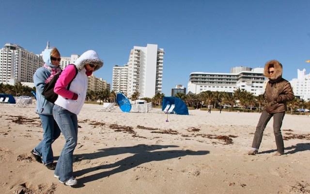 Advierten por bajas temperaturas en Miami - frío miami